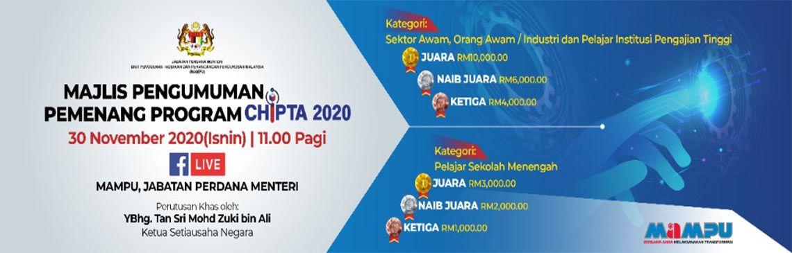 Majlis Pengumuman Pemenang Program Chipta 2020